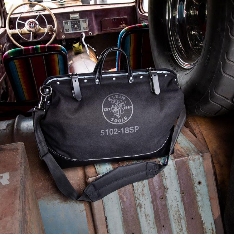 Black bag in old car