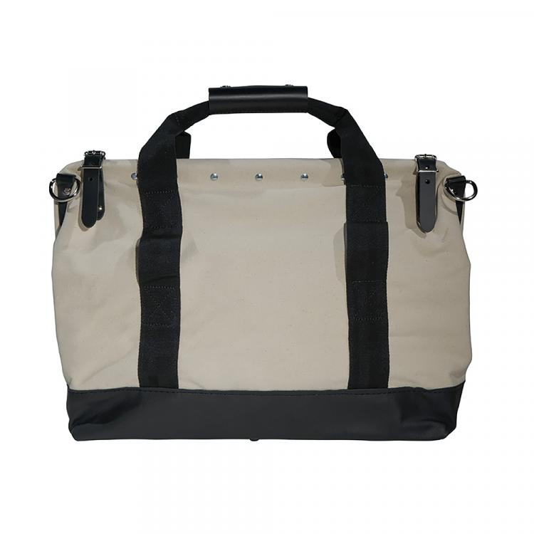 Canvas Tool Bag with Leather Bottom, 20-Inch