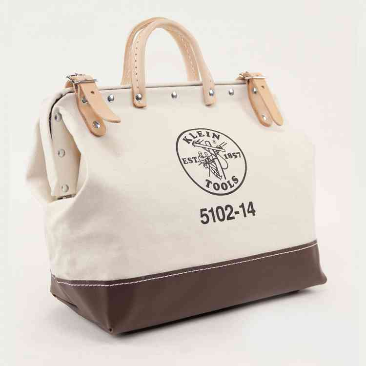 Canvas Bag, 14-Inch Natural Personalized Authentic Klein Tools