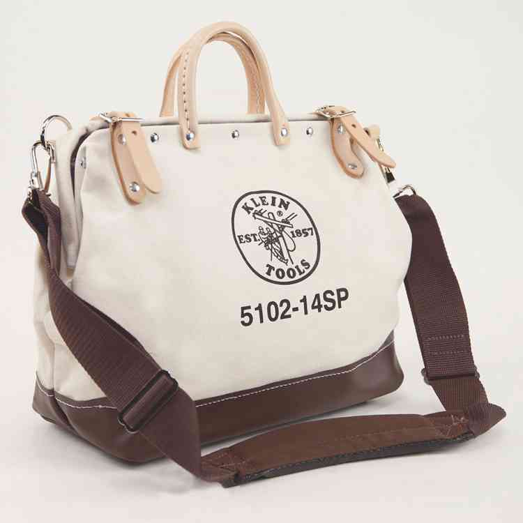 Deluxe Canvas Bag, 14-Inch Natural Personalized Authentic Klein Tools