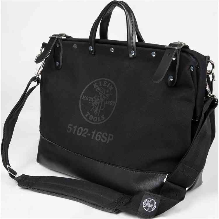 Deluxe Canvas Bag, 16-Inch Black Personalized Authentic Klein Tools