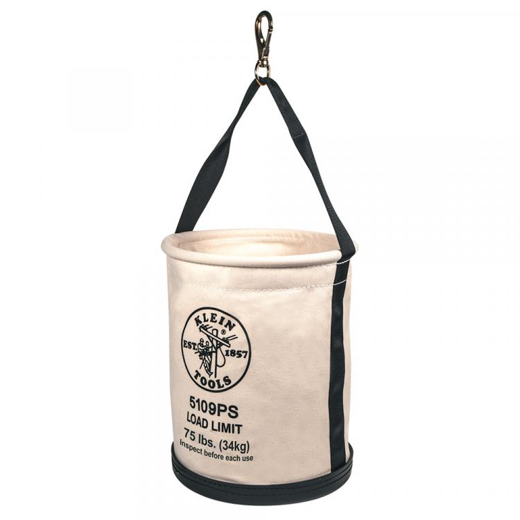Wide Straight Wall Bucket with Pocket/Snap