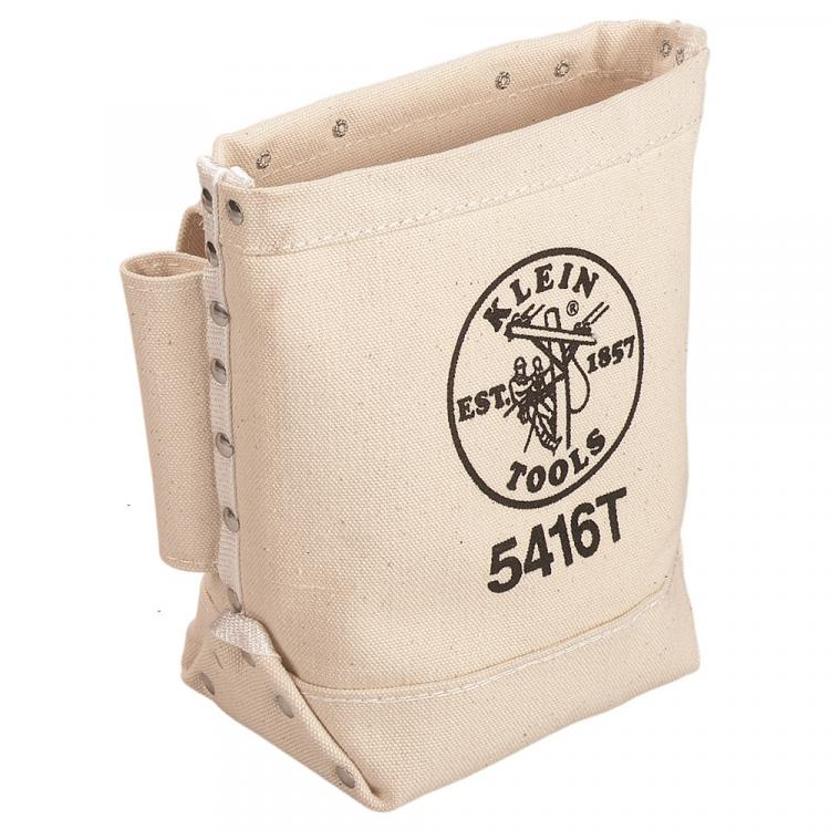 Tool Bag, Bull-Pin and Bolt Bag, Tunnel Loop, Canvas, 5 x 10 x 9-Inch