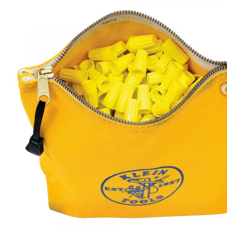 Canvas Zipper Bag, Consumables, Yellow